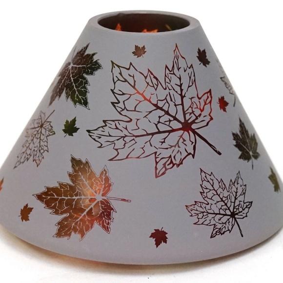 Yankee Candle Fall Oak Maple Leaf Frost Jar Shade